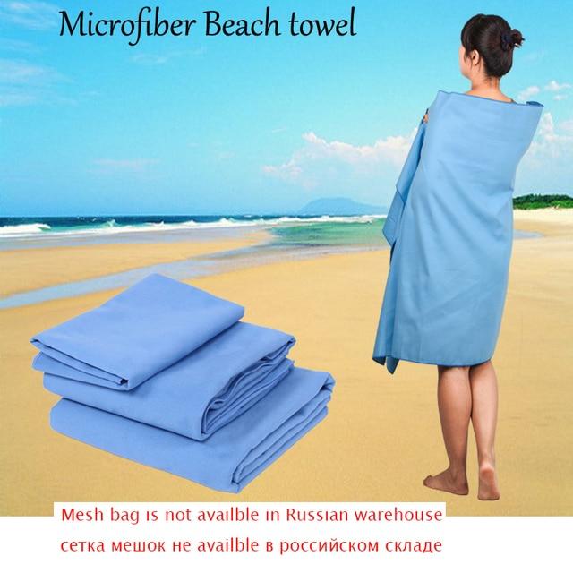 Zipsoft Microfiber Beach Towel Black Mesh Bag Fast Drying