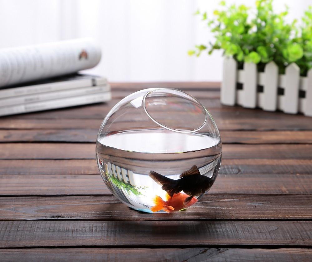 Fish tank glass for sale - Factory Sale Handmade Glass Bowl Vase Fish Tank Succulent Landscape Container Dia12cm