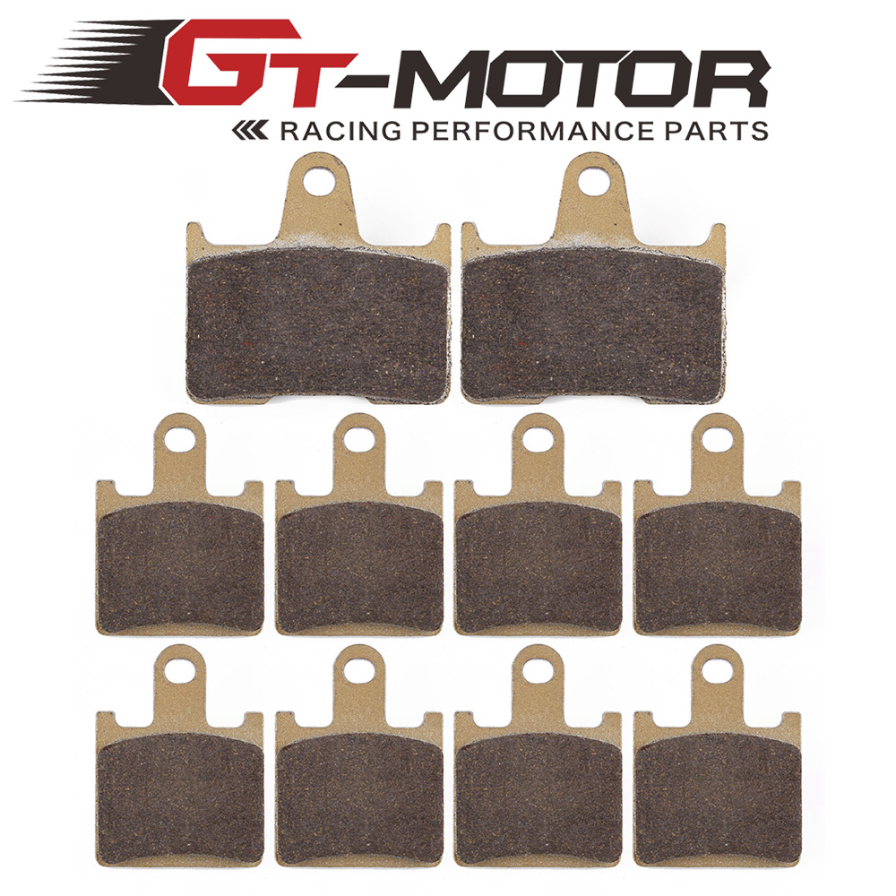 Motorcycle Front and Rear Brake Pads For KAWASAKI ZG1400 ZZR GTR ZX 1400 NINJA ZX-14R 2006-2017 motorcycle front and rear brake pads for honda vt250fl spada castel 1988 1990