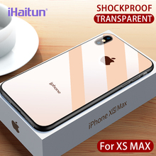 iHaitun Luxury Shock Proof Case For iPhone XS MAX XR X Cases Ultra Thin Soft Side Transparent 10 Drop Cover