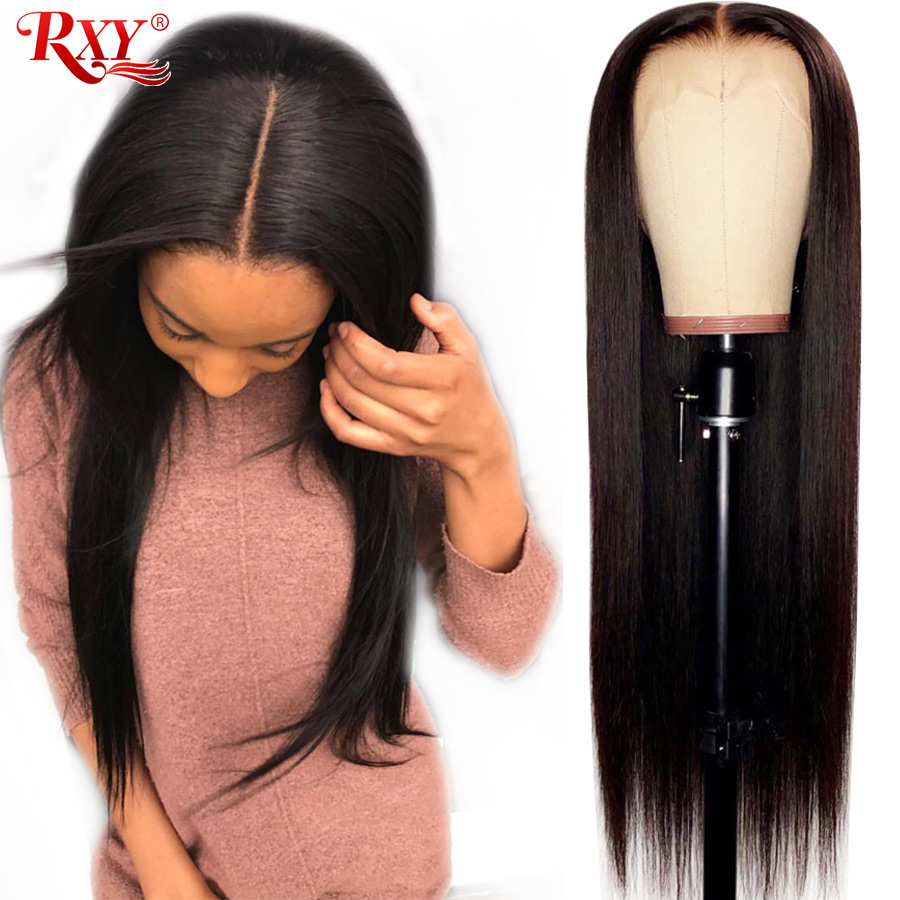 Straight Full Lace Human Hair Wigs Pre Plucked With Baby Hair Malaysian Remy Hair Full Lace