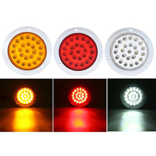 2Pcs Car LED Side Marker Lights Turn Signal Light Stop Lamp for 12V 24V Bus Boat Truck Trailer Red Yellow White цена 2017