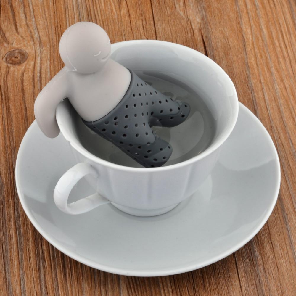 5 Color Tea Infuser Tea Man Strainer Clip Cup Strainer Percolator Tea Filter Colander Herbal Spices Leaf Infuser Tool tea hombre