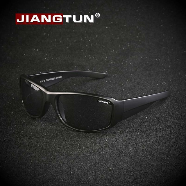 JIANGTUN 2016 Retro Vintage Mens Sunglasses Polarized Brand Designer Sun Glass Camo Black Color Unique UV400 Gafas Zonnebril