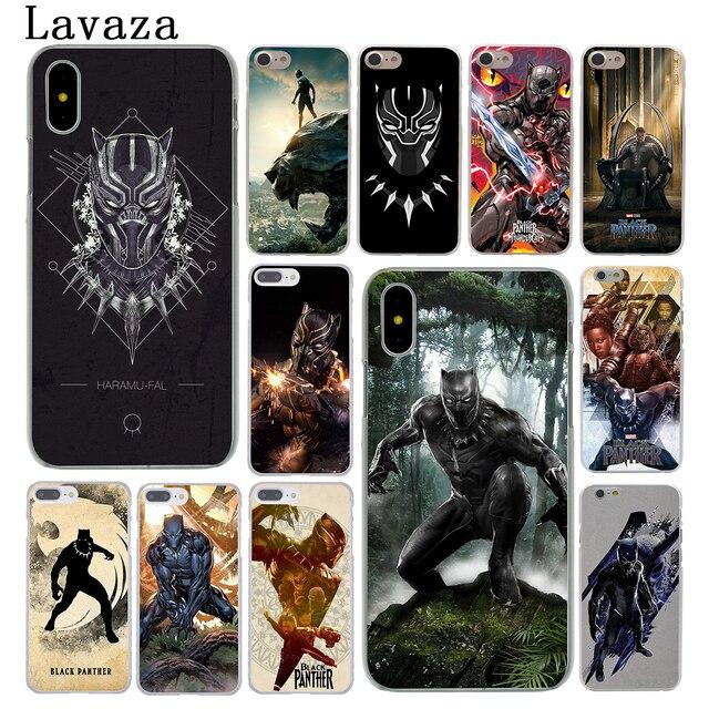 MOGADISCIO Coque Black Panther Marvel Comics Coque de Telephone pour Apple iPhone 6 6 s 7 8 Plus 4 4S 5 5S SE 5C Couverture pour iPhone XS Max XR