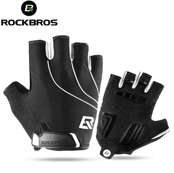 Rockbros Cycling font b Gloves b font Thicken Gel Pads Breathable Shockproof Road MTB Bike font