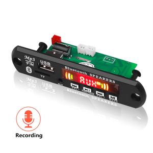Image 5 - Car USB Bluetooth5.0 Hands free MP3 Player Record 5 12V Integrated MP3 Decoder Board Module with Remote Control USB FM Aux Radio