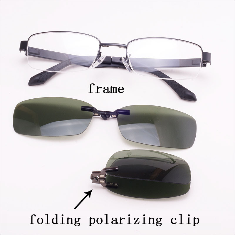 Eyeglass Frames Easy Clip : Box Eyeglasses Frame Belt Magnet Clip Myopia Glasses ...