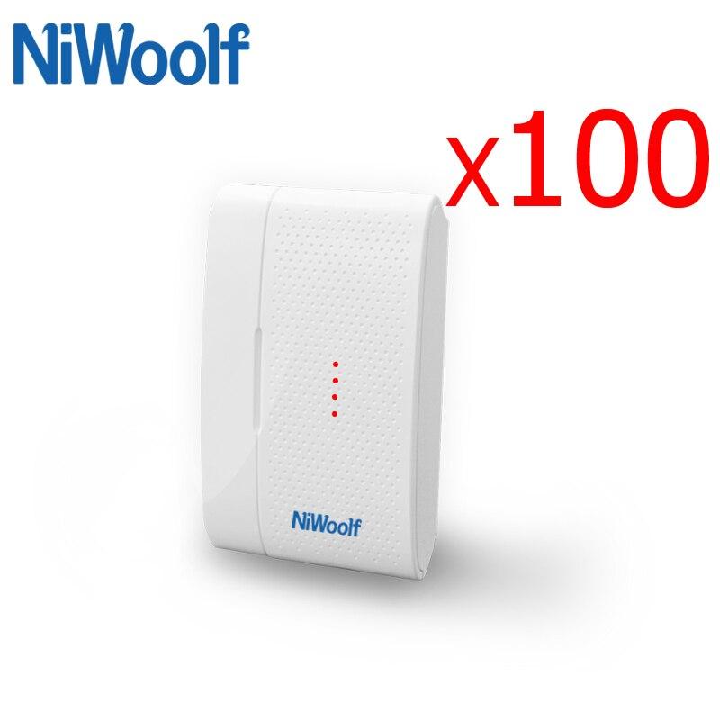 2018 nouveau détecteur d'écart de porte 433 MHz, 100 pièces/lot avec antenne intérieure de batterie, pour notre système d'alarme GSM cambrioleur à la maison