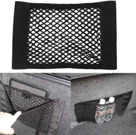 1 Pc Auto bagażnika z tyłu samochodu tylne siedzenie elastyczne stringi netto Mesh torba do przechowywania kieszeń klatki 40*25 cm pasuje do dla BMW Ford Passat Honda Audi