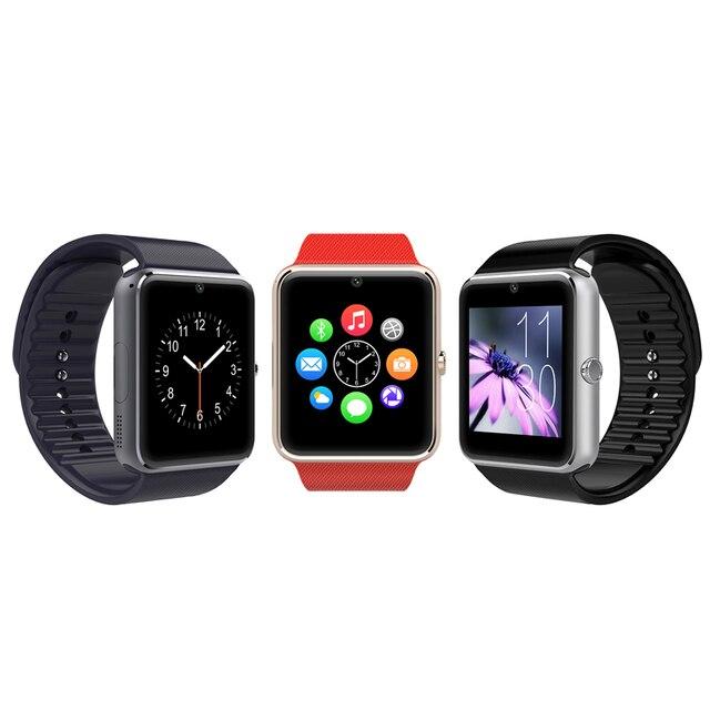 Gt08 led smart watch hombres hombres masculino relogio esportivo digital digital correr reloj monitor de bluetooth gps rastreador de ejercicios