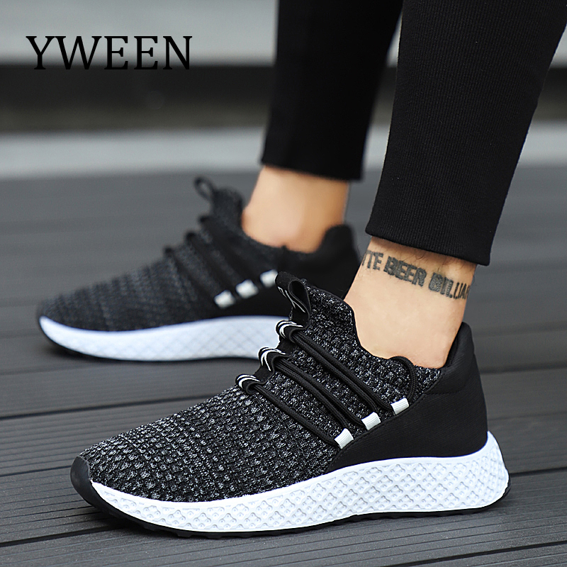 Qualité Mode Haute Tricot Printemps Sneakers Automne Adulto black De Blackred Yween Casual Masculino blackwhite Fly Tenis Chaussures Hommes nHwx0z8q7