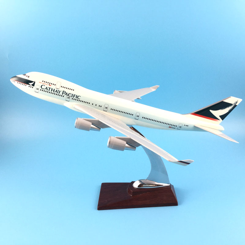 FREE SHIPPING 31CM 747 CATHAY PACIFIC METAL BASE RESIN MODEL PLANE AIRCRAFT MODEL TOY AIRPLANE BIRTHDAY GIFT new phoenix 11207 b777 300er pk gii 1 400 skyteam aviation indonesia commercial jetliners plane model hobby