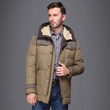 2015 New Hot Winter Thicken Warm Men Down jacket Coat Parkas Outerwear Cold Leisure Mid Long Plus Size 4XXXXL Hooded Splice