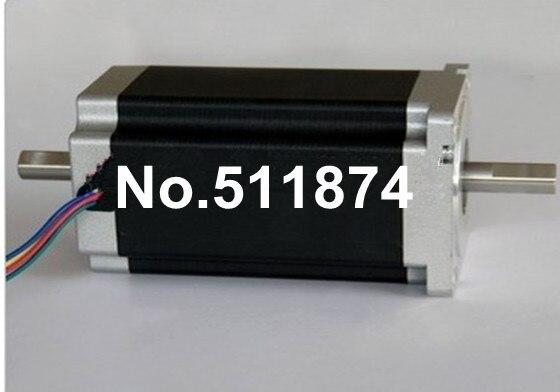 Best Selling 4 Lead Nema 34 Stepper Motor 85BYGH450C 012B Dual Shaft 1600oz In 151mm 3