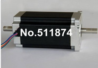 Best Selling 4 Lead Nema 34 Stepper Motor 85BYGH450C 012B Dual Shaft 1600oz In 151mm 3