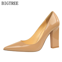 designer version silk satin high heels women elegant shoes woman high heel pumps office nude shoes luxury brand bigtree shoes