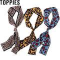 2019 осень Мода Leopard тонкий шарф Леопард Pirnting шарф из ненатурального шелка Для женщин браслет аксессуары головные повязки - фото