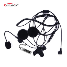 1pc Motorcycle Helmet Headset Microphone for Midland Walkie Talkie with Finger PTT