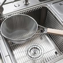 Optional 3 Größen Küche Sieb Feinmaschigen Edelstahl Teesiebe Hause Sieb Qualität Lebensmittel Sieb Schwere Griff