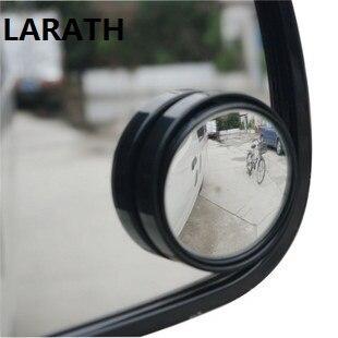 LARATH Auto Side 360 Wide Angle Round Convex Mirror Car Vehicle Blind Spot Dead Zone Mirror RearView Mirror Small Round Mirror