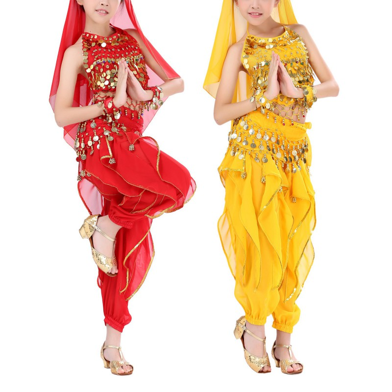 Always Fashion Shop 2017 Handmade Belly Dance Costumes Dance Wear Kids Belly Dancing Indian Performance Performance Clothing Suits