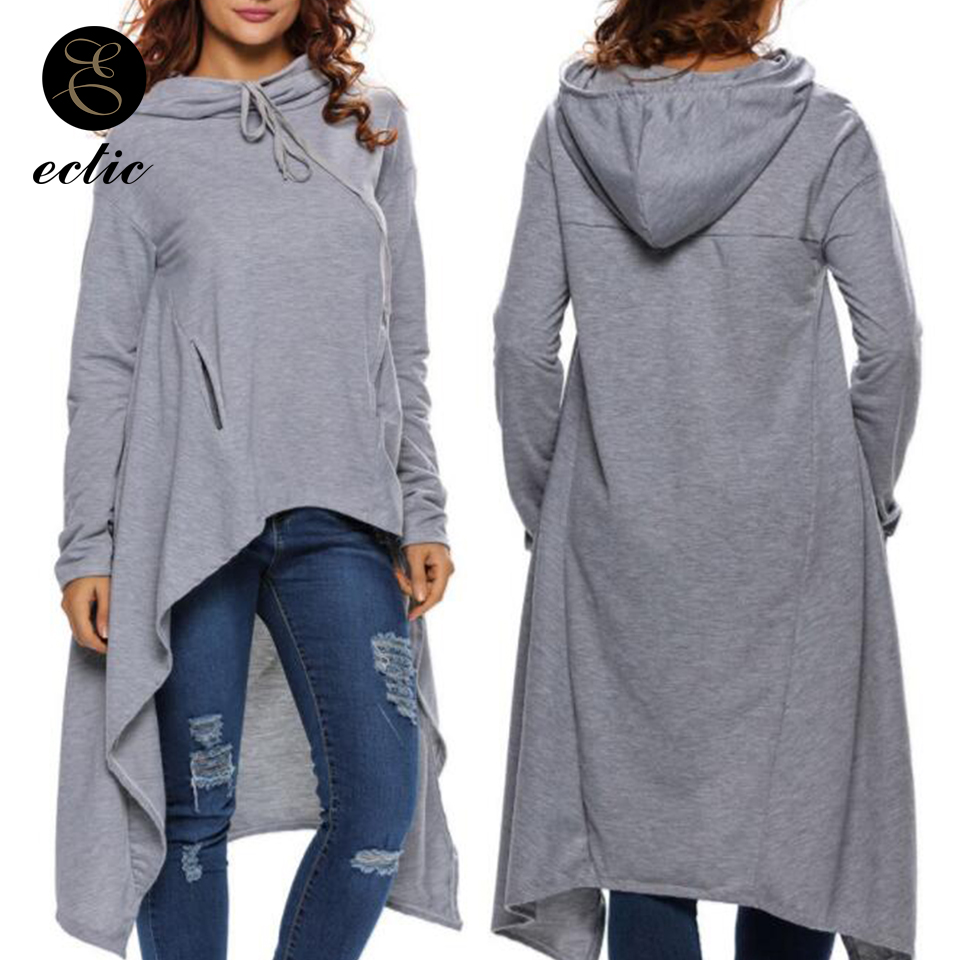 Oversized Hoodie Dress Women Cute Pullover Poleron Mujer 2019 Plain Hooded Sweatshirt Irregular Hoodies Solid Tunic Long Sleeve