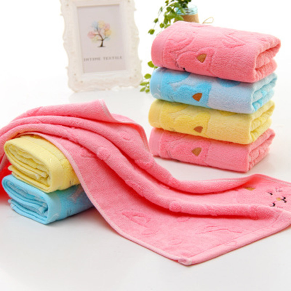1pcs Microfiber Cartoon Towel Dry Baby Soft Absorbent Fast Drying Towel Small Towel Children Bath Beach Cleaning Towel 50*26cm