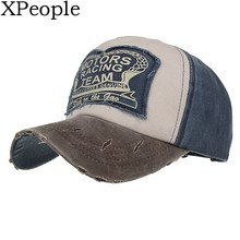 XPeople Wholesale Vintage Washed Denim Cotton Sports Baseball Cap for Women and Men