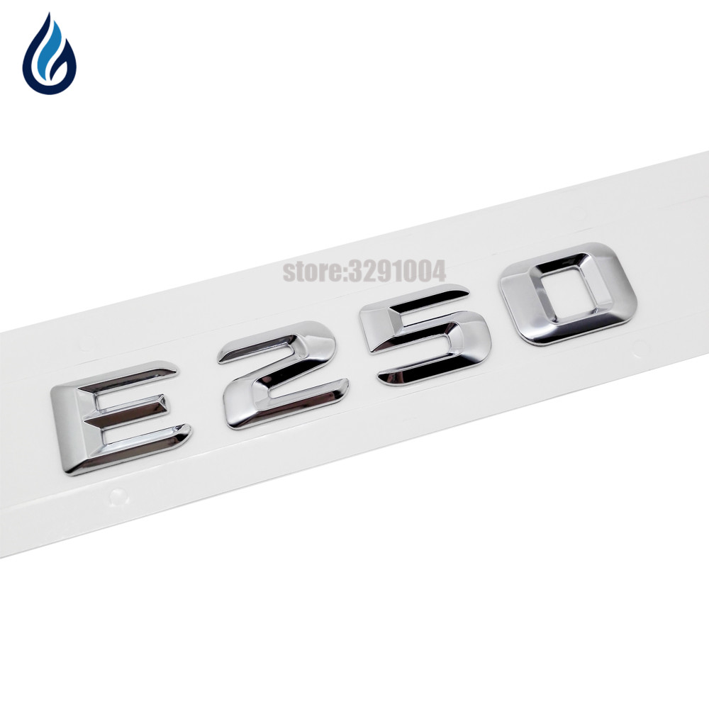 Car Trunk Rear <font><b>Emblem</b></font> Badge Chrome Letters E 250 For <font><b>Mercedes</b></font> Benz E Class E250 170 W110 W114 W115 W123 W124 W210 <font><b>W211</b></font> W212 W207 image