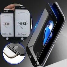 """NFH 4D полное покрытие закаленное стекло для iPhone 8 8 Plus 3D 9H экран протектор Взрывозащищенная Пленка чехол для 8 4,"""" 5,5"""""""