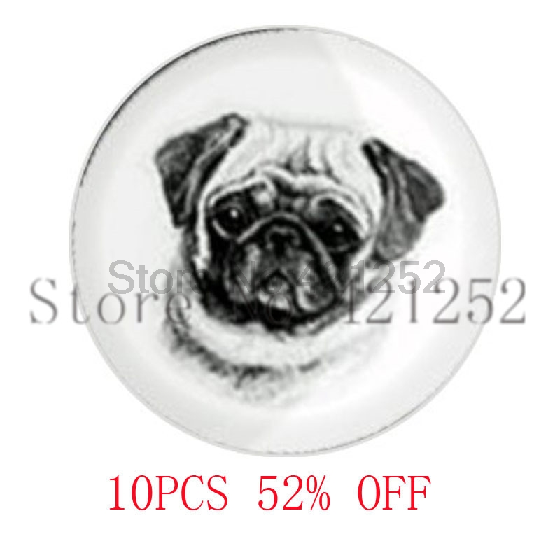 Pug Face Dog lds Mormons ctr Cuff Gift for Him necklace keyring bookmark cufflink earring