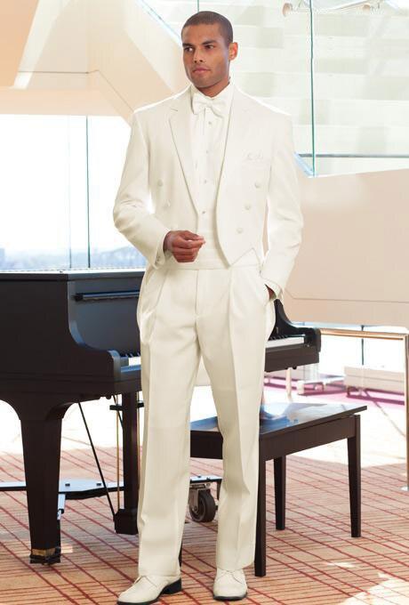 Ivory Full Dress Styling Features A Premium Satin Notch Lapel Groom Suit(jacket+tie+girdle+pants)men Wedding Suit Tuxedoswe