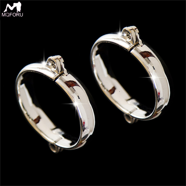 Metal Stainless Steel Female Ankle Hand Wrist Cuffs Handcuffs Men Women BDSM Bondage Restraints Adult Game Sex Toys for Couples