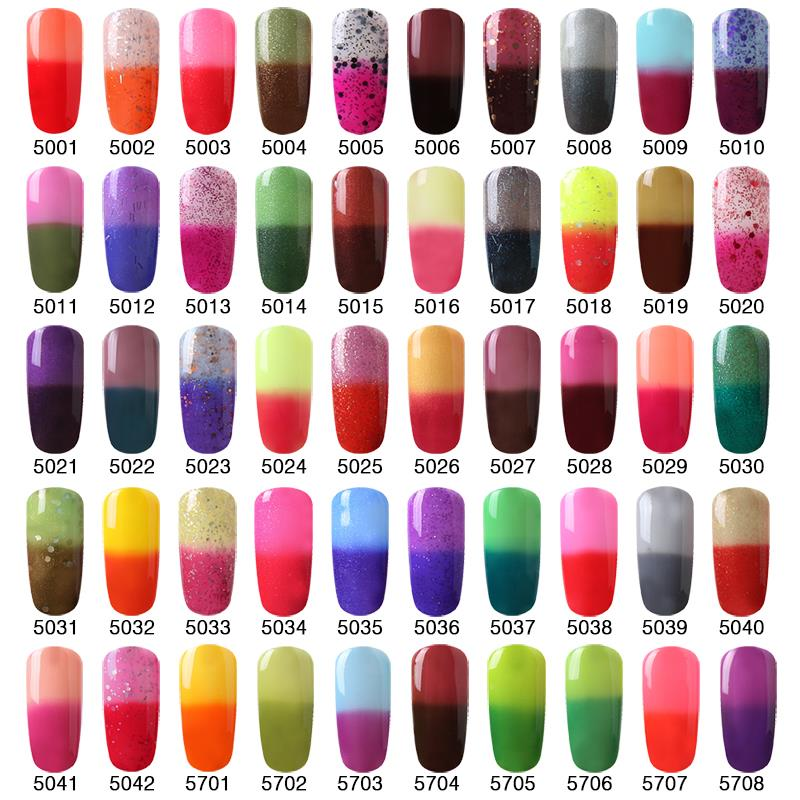 Fairyglo 1pcs Chameleon Temperature Change Color Gel Nail Polish 1 Buffer File Kit Fashion Diy Tool Set In Form From Beauty