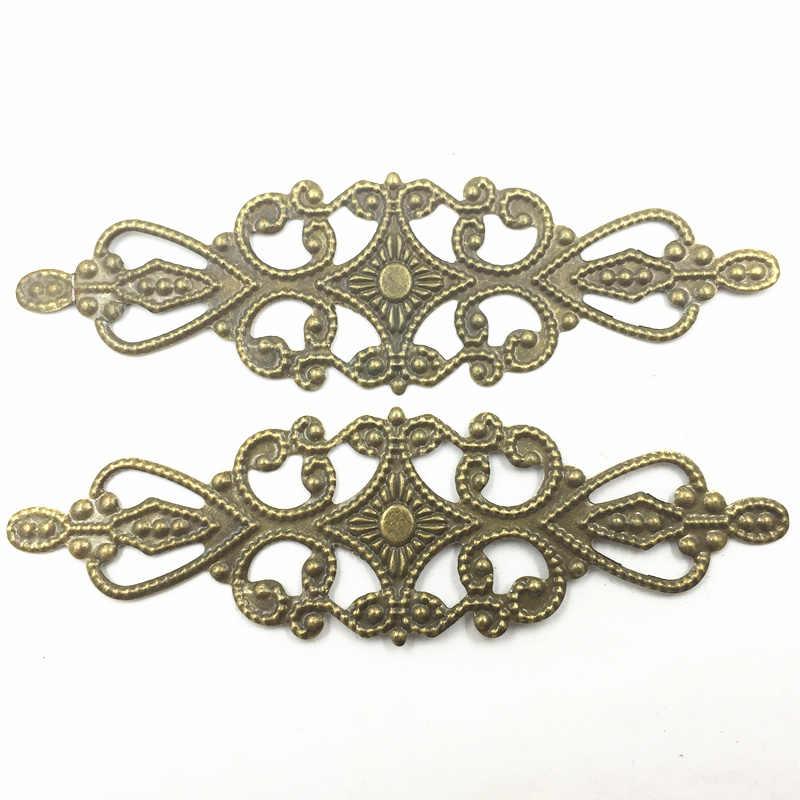 10Pcs Antique Bronze Tone Rose Flower Snowflake Filigree Wraps Alloy  Connectors Embellishments Decoration DIY Findings Crafts