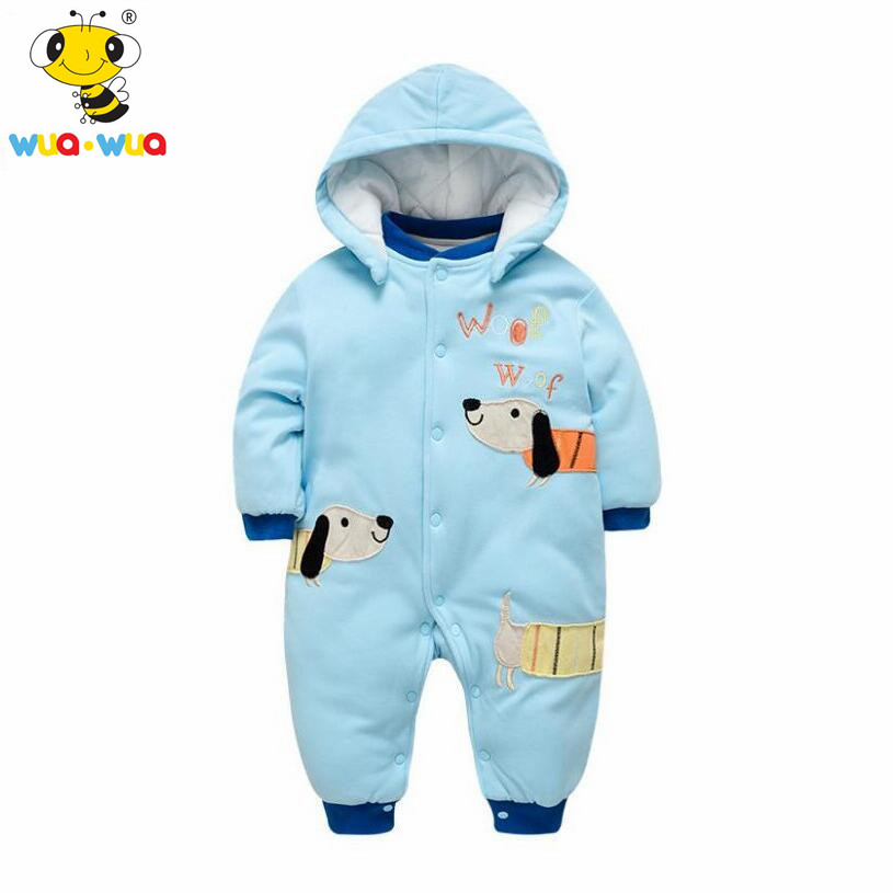 wuawua brand baby rompers winter clothing newborn baby boy clothes snowsuit 1st birthday kids jumpsuit outerwear infant overalls siyubebe winter baby rompers fashion brand cotton fleece ropa bebe infant girl jumpsuit kids clothing newborn baby boy clothing
