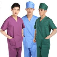 Scrub Sets Cotton Scrub Suit Medical uniforms Uniformes clinicos hombre Scrubs Men short sleeve pants