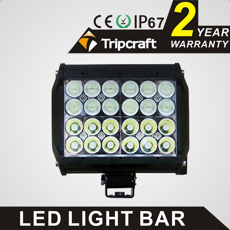 TRIPCRAFT 72W LED WORK LIGHT BAR Quad Row Spot flood combo beam car driving lamp for offroad 4x4 truck ATV SUV fog lamp 6.75inch tripcraft 12000lm car light 120w led work light bar for tractor boat offroad 4wd 4x4 truck suv atv spot flood combo beam 12v 24v