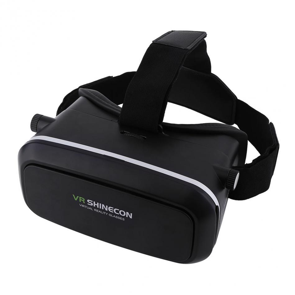 Updated VR Box Cardboard 3D Glasses Virtual Reality Goggles Glasses For 3D Games Movies 3.5 -6.0 Inch Phone VR SHINECON 1.0