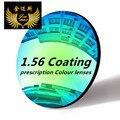 Качество близорукость 1.56 индекс окраска линзы anti scratch uv400 защиты около зрения раскраски рецепт sunglassesmirror объектив