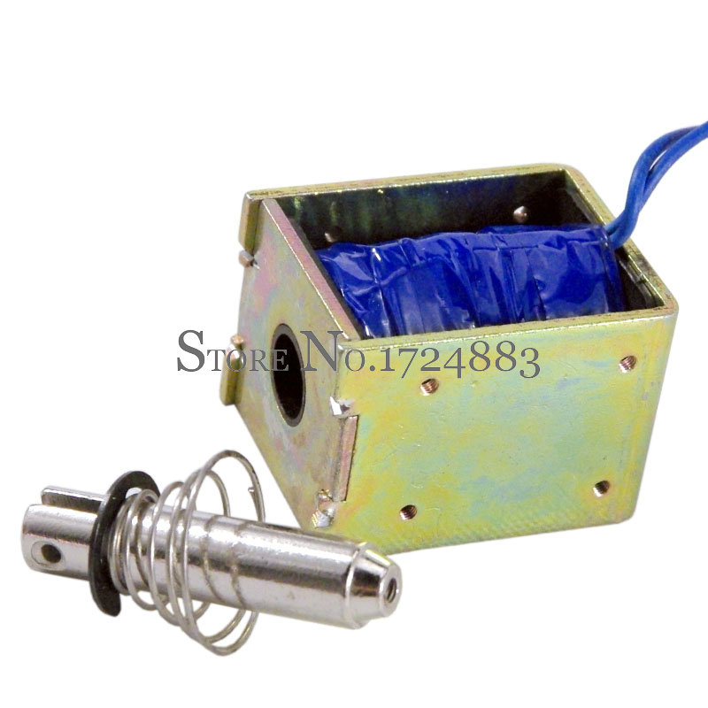 Wholesale JF-1050 DC 24V 360mA  Force 60N  travel 10mm Pull Type Linear Solenoid Electromagnet 24v pull hold release 10mm stroke 6 3kg force electromagnet solenoid actuator