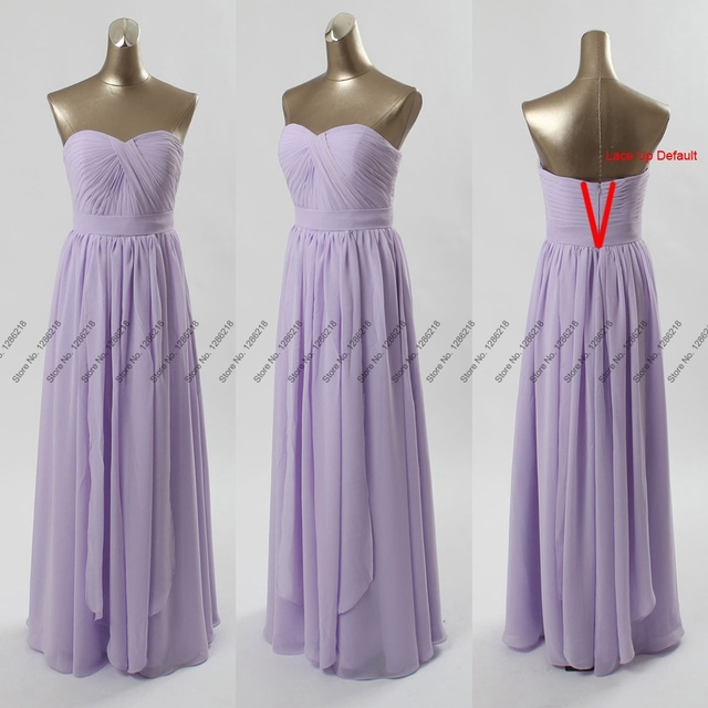 Elegant New Lilac Long DIY Convertible Bridesmaid Dresses Formal Chiffon A Line  Wedding Party Dress Prom Gown Custom S257 812fa66470fd