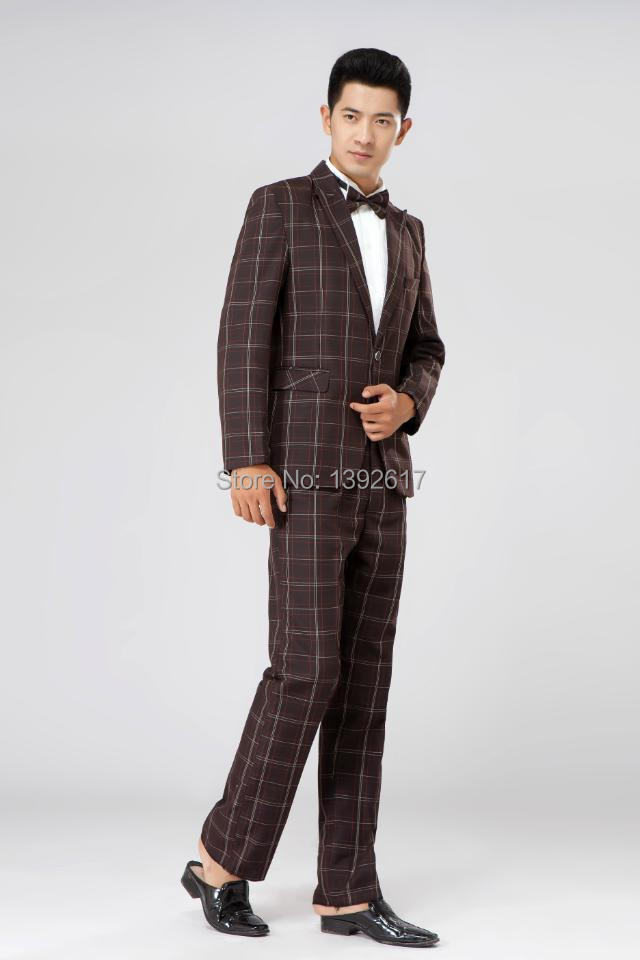 suit female Picture - More Detailed Picture about mens brown check ...