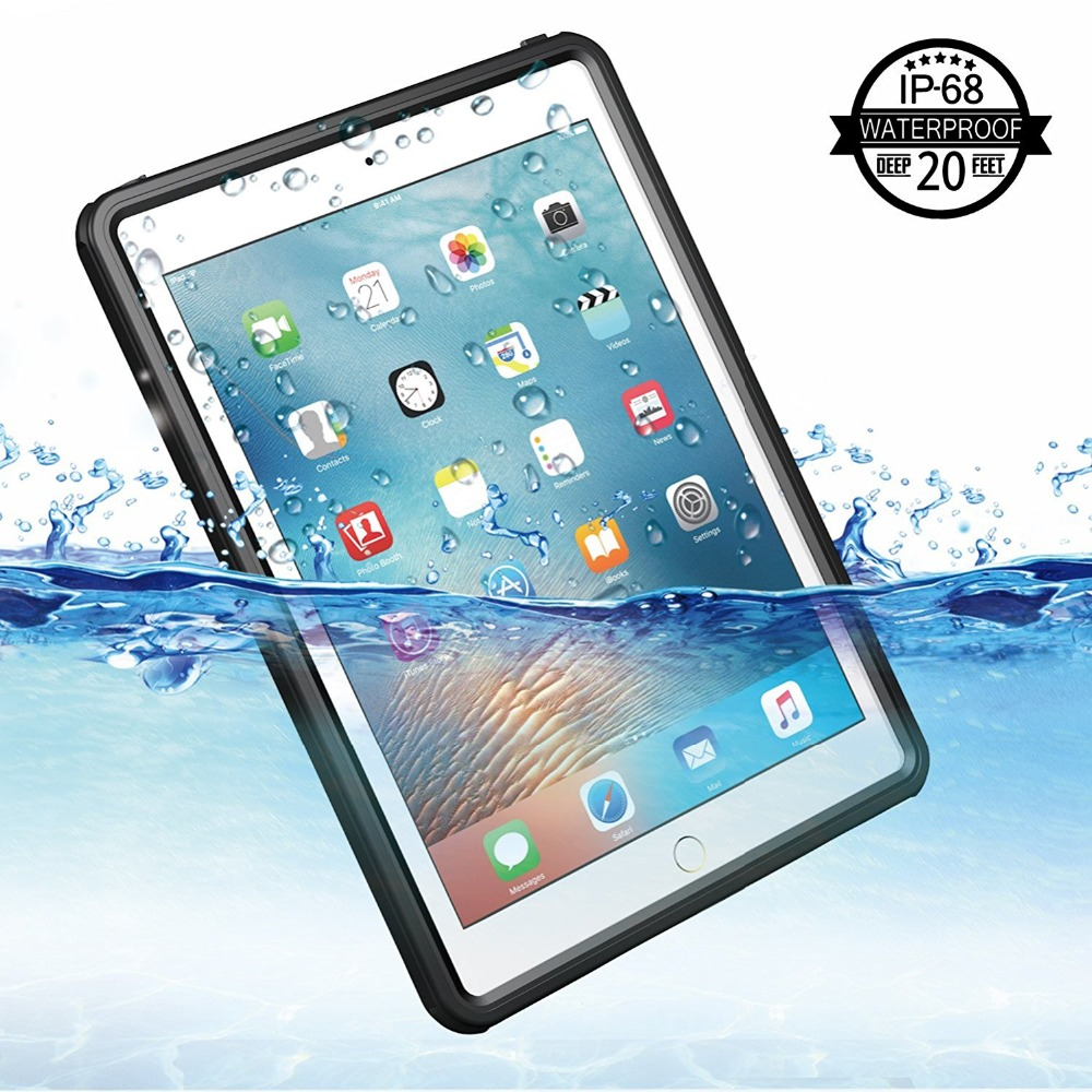 IP68 Waterproof Case For iPad 2017/2018 Shockproof Snow Dust proof For iPad 9.7 inch Case Cover Skin Black цена