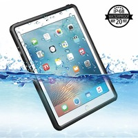 IP68 Waterproof Case For iPad 2017/2018 Shockproof Snow Dust proof For iPad 9.7 inch Case Cover Skin Black
