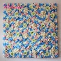 40X60cm Artificial Silk Rose Flower Wall Decoration Decorative Silk Hydrangea Wedding Decoration Background Party Home Decor