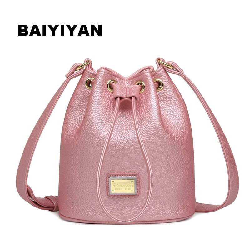 2018 Brand New PU Leather Women Messenger Bags Fashion Designers Chain  Bucket Bag Ladies Handbag Crossbody Shoulder Bag bolsa c80de4705c