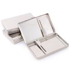 Metal Cigarette Tobacco Case Box Light Aluminum Cigars Holder Pocket Storage Container Send Random 063N