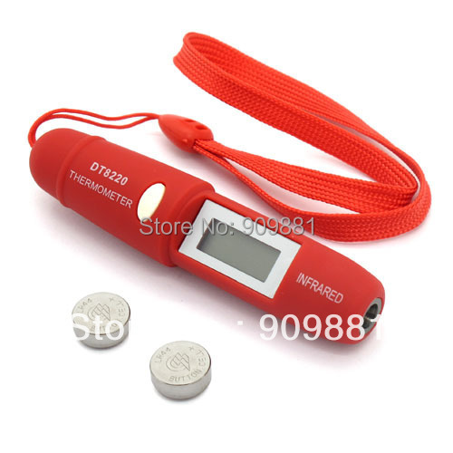 Минимальный Бесконтактный инфракрасный термометр с ручкой, 220 градусов, портативный измеритель температуры для взрослых и детей DT8220